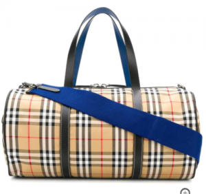 Burberry 4074216 vintage kennedy holdall blue