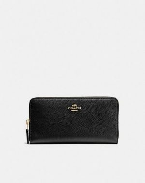 Coach 58059 leather zip wallet black