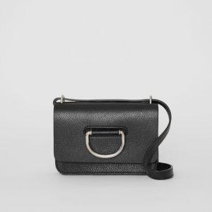 Burberry 4076704 mini leather d-ring bag black