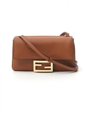 SMALL BAGUETTE CROSSBODY BAG BROWN